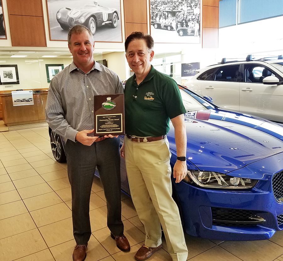 Thatu0027s Bobby Perich, General Manager Of Jaguar North Scottsdale, Receiving  The Plaque Honoring The Dealership As JCNA Dealer Of The Year From JCCA  Past ...